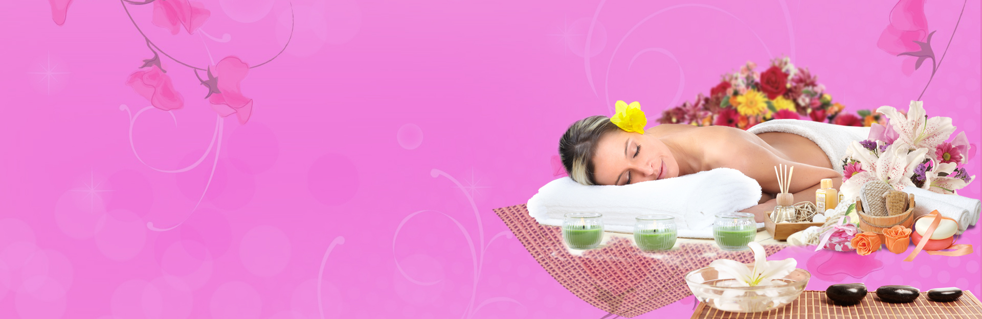women relaxing in plesant enviornment after massage